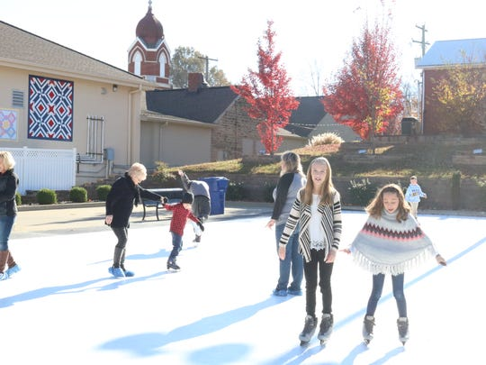 Many children and adults alike enjoyed skating at the