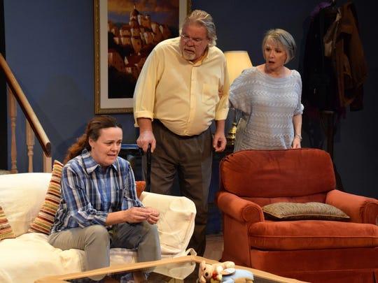 "Theatre Artists Studio's ""The Heard"" features (from left) Maureen Dias Watson, Michael Fleck and Patti Davis Suarez."