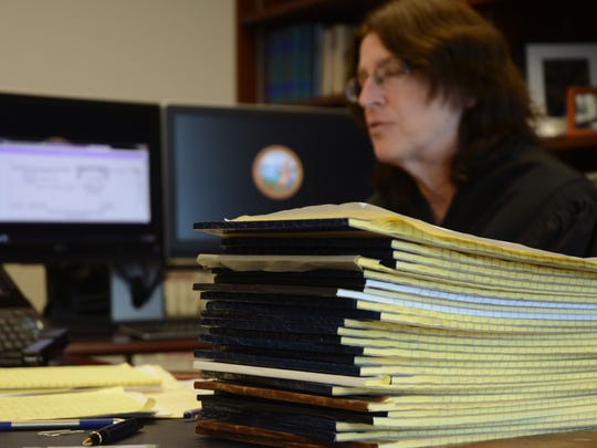 Riverside County Assistant Presiding Judge Becky Dugan has kept more than 1,300 pages of handwritten notes on Prop 47 cases, which were used to estimate the impact on felonies statewide.