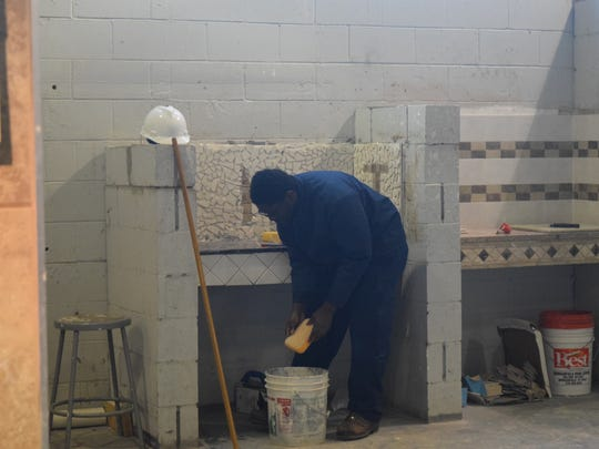 Job Corps students in the Tile program are encouraged
