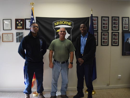Pre-military students with their sergeant at Job Corps