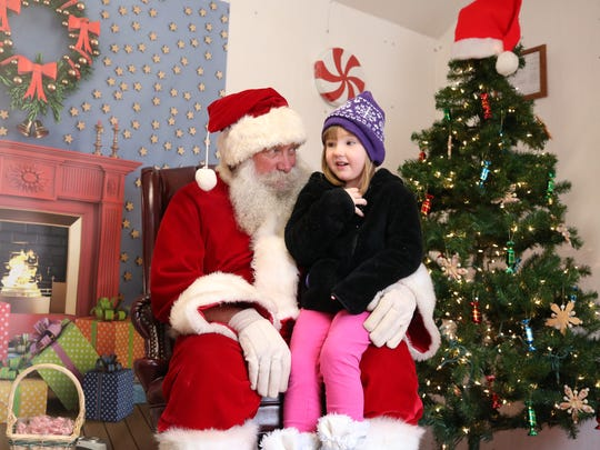 Harper Bennett visited Santa last year at the downtown Santa House.