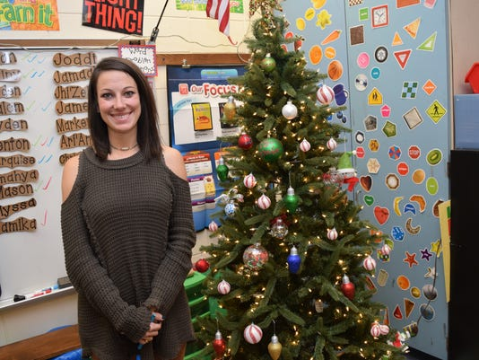 Emily Weeks was choses as the Elementary School Teacher of the Year.