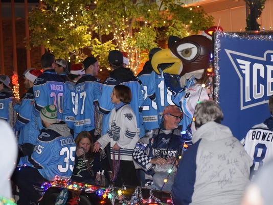Ice Flyers--Christmas Parade