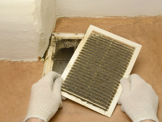 Dust and dirt can completely coat air ducts inside