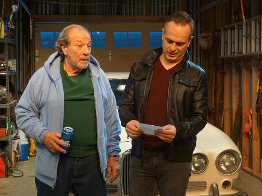 Dan Grimaldi (left) and Christopher Daftsios in a scene