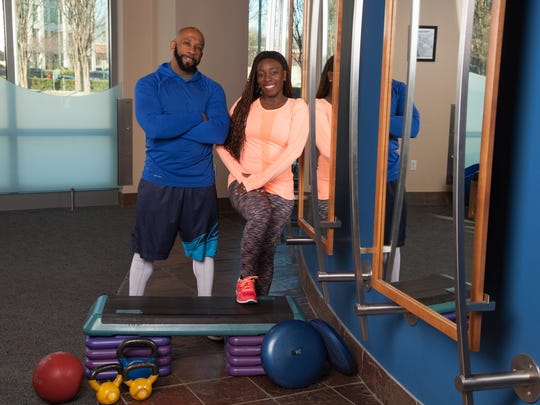 Kennis and Erica Sewell work out together regularly. They own LYFE fitness.