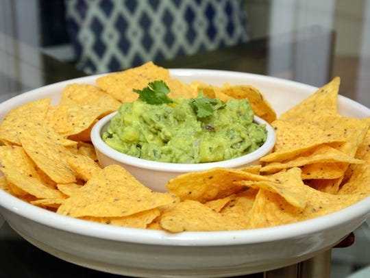 Mango and Cilantro Guacamole gets a little zip from