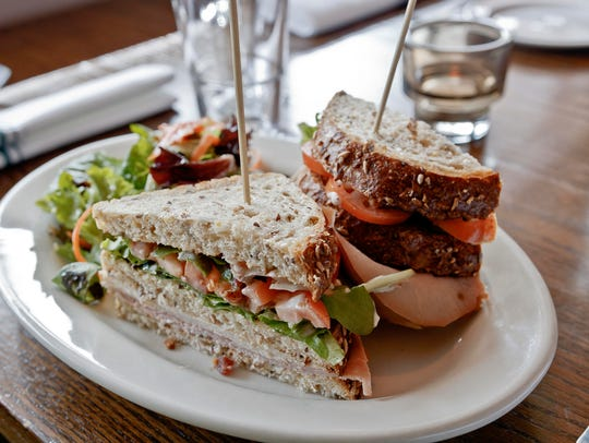 Turkey and cotto on whole grain bread at La Locanda