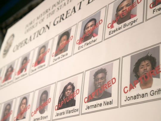 Twenty-one people were arrested Wednesday in a 14-month investigation into gang activity in Fort Myers.