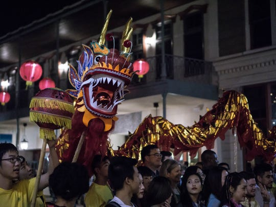 The Lunar New Year is the theme of Gallery Night on Friday. Last year's celebration included dragon dance demonstrations.