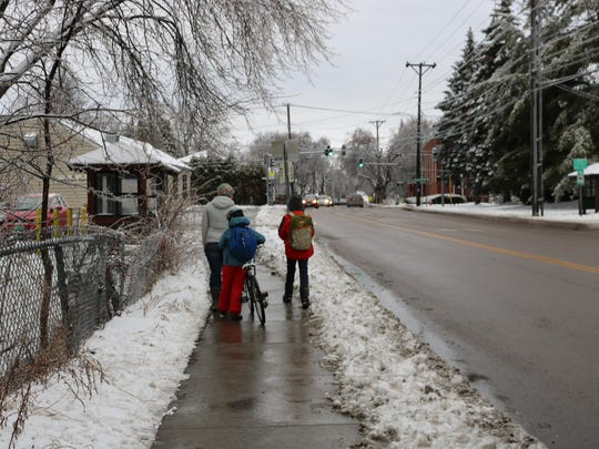 Pine Street, south of Champlain Elementary School on Jan. 25, 2017.