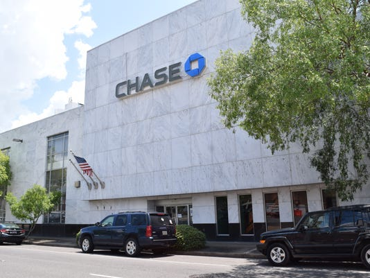 The Chase building is located in downtown Alexandria.