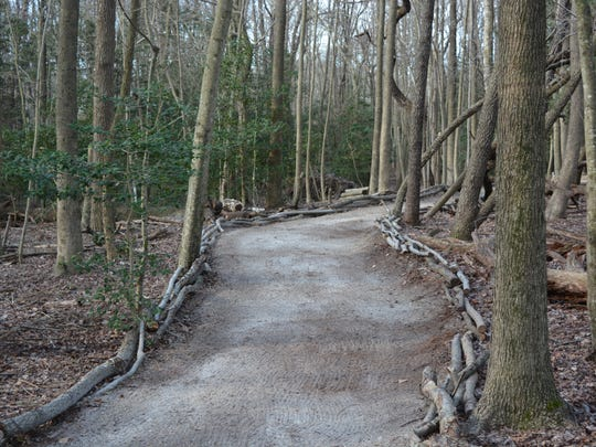 Walking paths, already completed at the Delaware Botanic Gardens, present a branding opportunity for potential sponsors, Raymond Sander said.