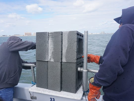 4X4, 280 pound block, used for reef building.