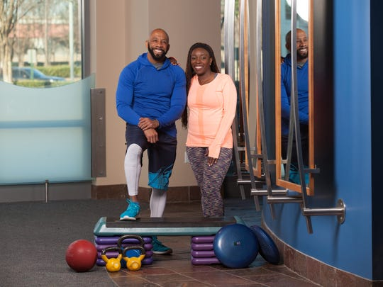 Kennis and Erica Sewell, both 43, have been working out together the past five years.