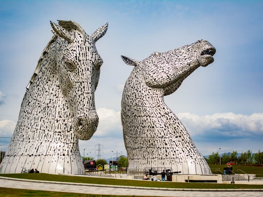 Greg and Sue Miller's do-it-yourself travel allowed them time to see the Scottish Kelpies, the world's largest equine sculpture, in Grangetmouth Scotland.