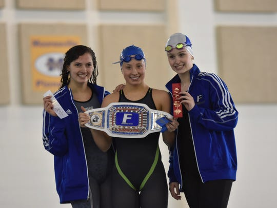 Gabby Hoffman (left, 3rd place), Ali Terrell (middle,