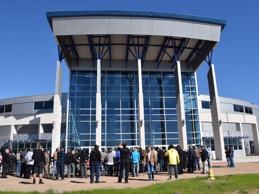 A ribbon cutting ceremony for the newly renovated Rapides Paris Coliseum was held by the Central Louisiana Chamber of Commerce and the Alexandria/Pineville Convention & Visitors Bureau on Friday. The coliseum will be open to the public from 9 a.m. to 4 p.m. Saturday for tours, food and other activities.