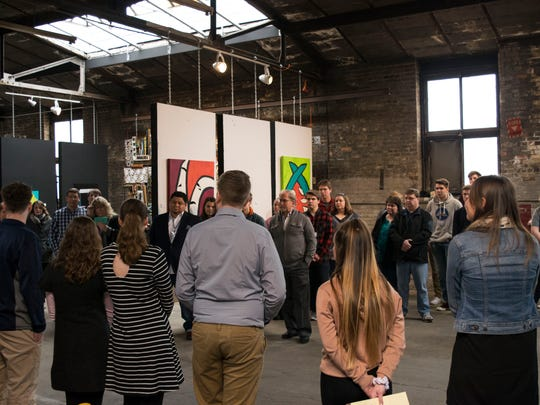 Students curated a show that will be on display at Global Arts Gallery in Manitowoc through Feb. 25.