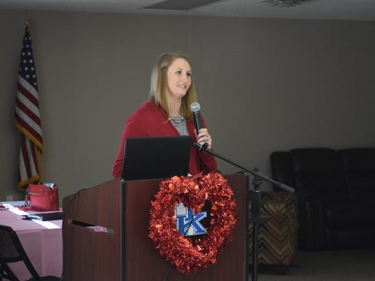 Emily Smith, RD from Methodist Hospital, spoke to the ladies in attendance about the facts regarding heart disease and women,