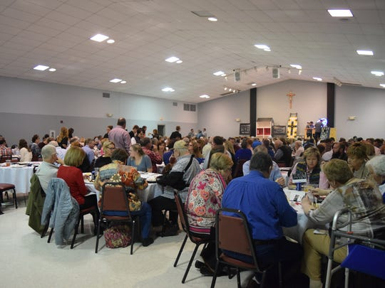 A large number of people were in attendance for John Paul II Catholic School's Annual Dinner and Auction.