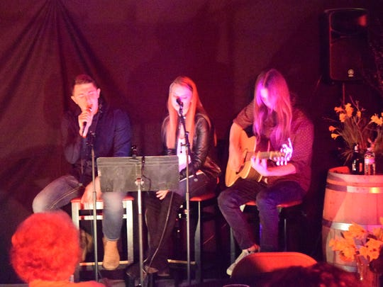 Beau Sheffer, Hannah O'Nan, and Cody Ricketts serenaded the crowd throughout the evening in between storytellers.