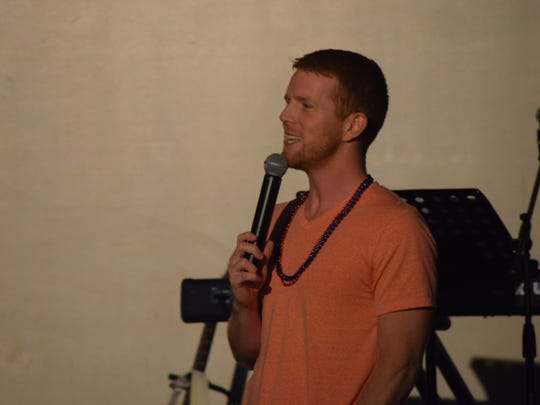 Derek Phillips spoke to the young people in attendance last Thursday night.