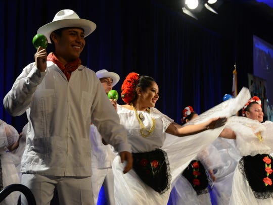 Students from Cathedral City High School's Ballet Folklorico