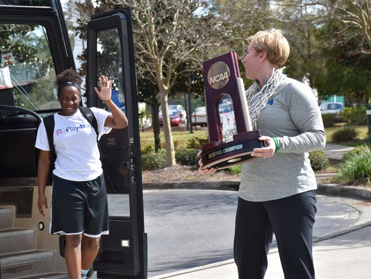 UWF Women's Basketball Celebration