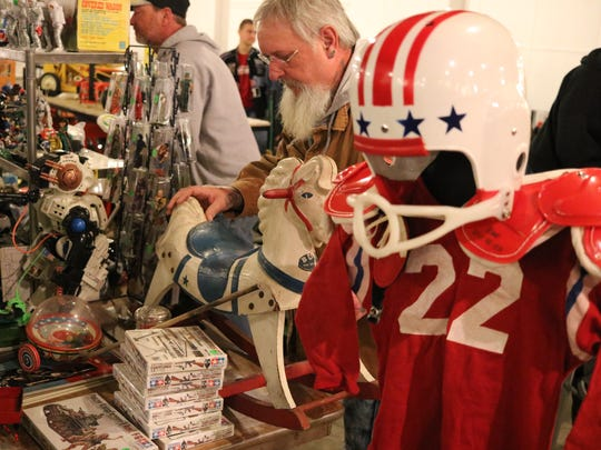 While most collections included die-cast tractors and farm toys, plenty of odds and ends were around each corner at the 32nd annual Fremont Toy Show this past weened.