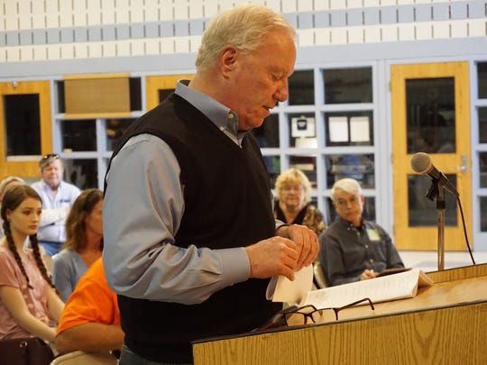 Ocean City Mayor Rick Meehan at a public hearing for