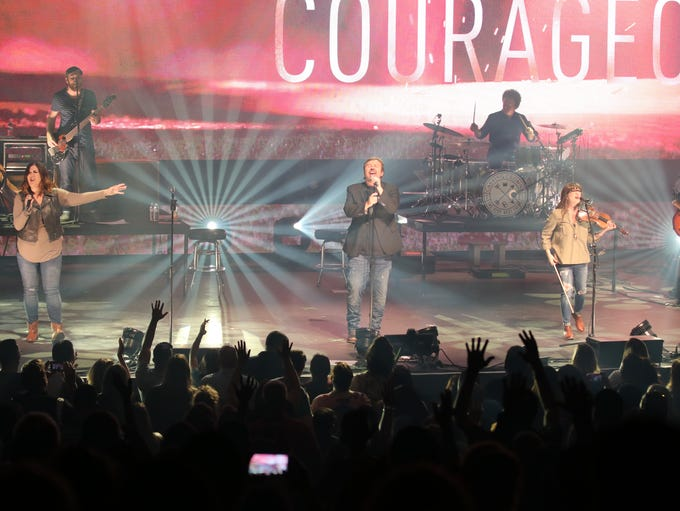 Casting Crowns during a recent performance.