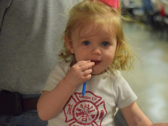 Brooklyn Millikan reps her Union County Fire Department