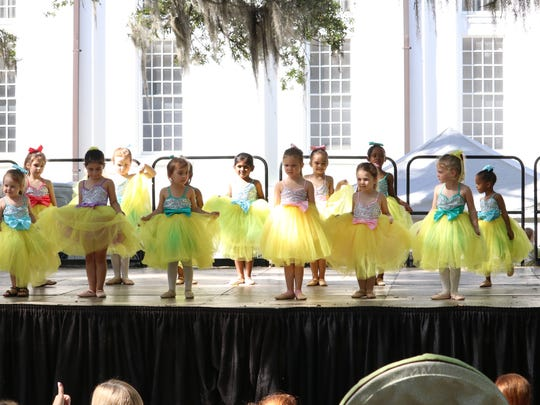 Killearn Kids Dance Troupe gets ready for its dance performance at Springtime Tallahassee.