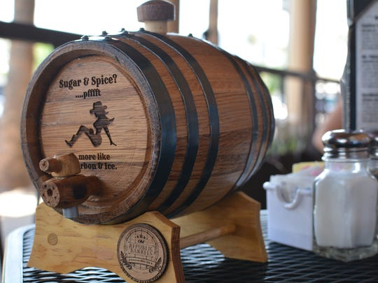 One of Old Republic Barrels' smaller barrels with a personal engraving.