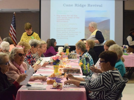 The annual Homemakers Meeting hosted a room full of women from the county as they enjoyed a meal and entertainment.