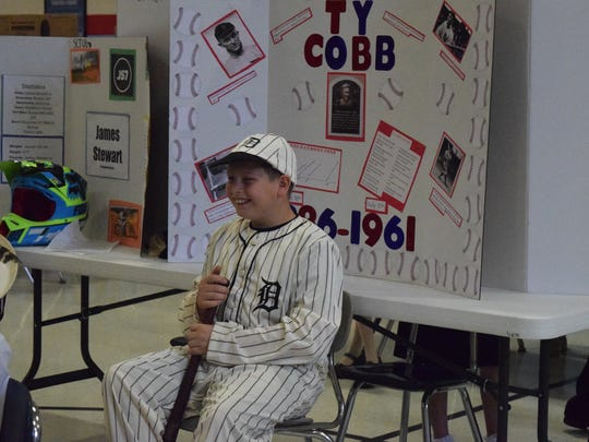 Logan Hall waits to share about Ty Cobb.