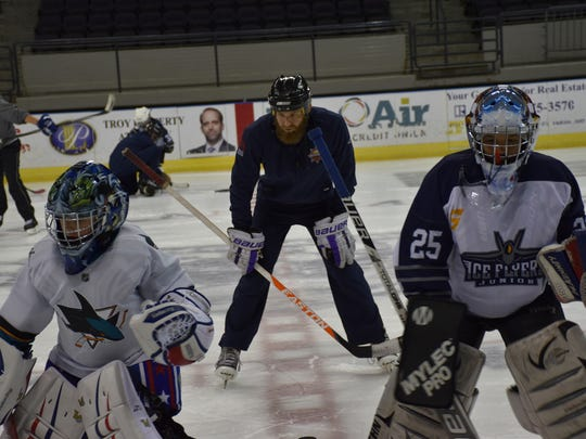 Former Peoria Riverman star goaltender Kyle Rank is now a Pensacola resident and future UWF student who is giving back to the game by helping Pensacola area youths in the Junior Ice Flyers program.