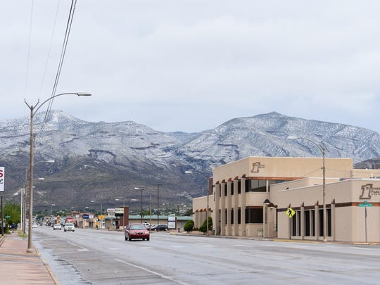 A storm passed over Otero County on Saturday afternoon, shutting down the Earth Day festivities and leaving a dusting of snow on the Sacramento Mountains.