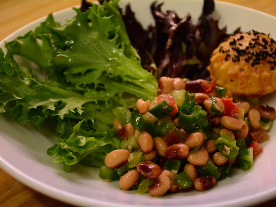 Chef dinners offer Palmietto a chance to showcase his different passions. This black eyed pea salad was served at a low country Charleston themed dinner.