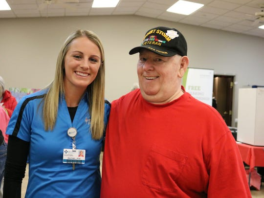 Union Co. Methodist Hospital Occupational Therapist and UC resident George Blakeley at the health fair.