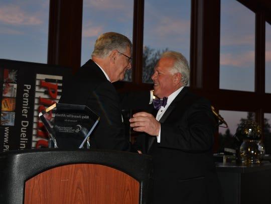 Riley Award for Altruism award winner Todd Lipa gets