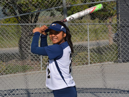 Shortstop Melissa Belnas was Everett Alvarez's best senior this season from the plate and played a key role in the Eagles' first division champion season in 12 years.