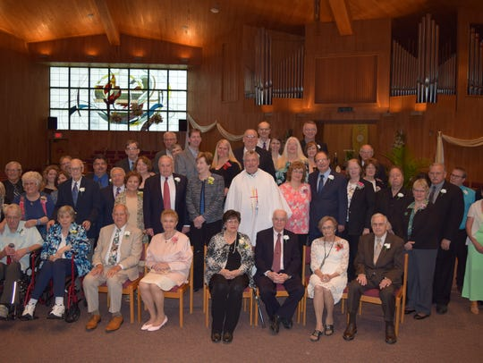 Two dozen couples were honored for their long-running