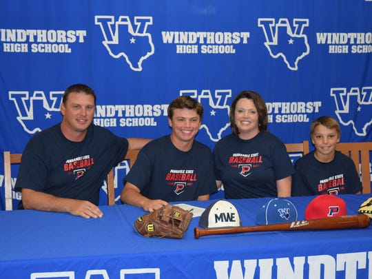 Bryson Hackley signed to play baseball at Panhandle State.