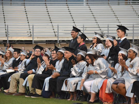 Academy Del Sol graduated 61 students on Thursday evening. For the first time, the alternative high school hosted the commencement ceremony at Tiger Stadium.