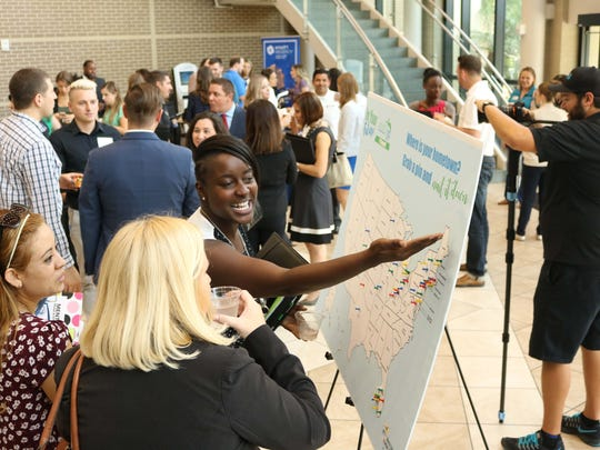 Young professionals spent an afternoon networking and learning about leadership at the YP Summit in Fort Myers.