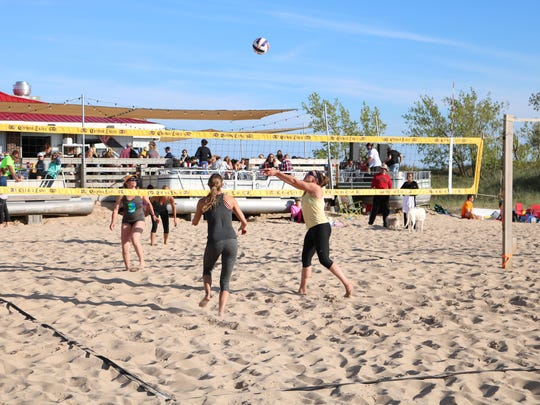 Midwest Professional Volleyball Association tournament in May 2017 at Pere Marquette Beach in Muskegon.