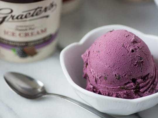 Black Raspberry Chocolate Chip is a favorite at Graeter's Ice Cream stores.